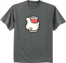 men's big and tall t-shirt beer can funny drinking tee tall shirts for men