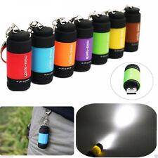 Mini-Torch 0.3W 25Lum USB Rechargeable LED Torch Lamp Flashlight Keychain Torcia