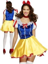 Snow White Fairytale Costume Ladies Story Book Fancy Dress Outfit Size 6 to 18
