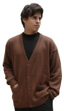 Men's Superfine Alpaca Wool Knitted V-Neck Cardigan Golf Sweater