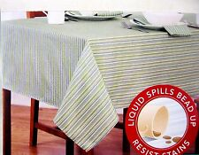 Assorted Sizes Ansley Coastal Stripes Microfiber Fabric Tablecloth FREE SHIPPING