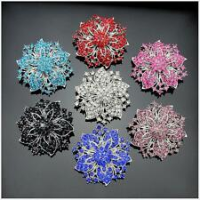 Elegant Women Girls Brooch Pin Rhinestone Crystal Flower Brooch Pin Fashion