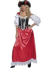 Adult Womens Authentic Pirate Wench Deluxe Costume Smiffys Fancy Dress