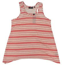 New! Miss Understood Coral Striped Tank Top Big Girls Youth Large (10-12)