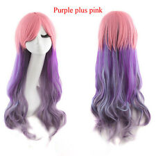 Heat Resistant Women Long Wavy Harajuku Style Cosplay Wig Full Wigs New
