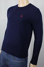 Polo Ralph Lauren Navy Blue Cashmere Sweater Red Pony NWT $325
