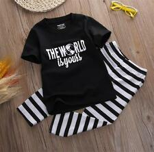 2PCS Toddler Baby Boy's T shirt Top+Long Pants Trousers Summer Outfit Clothing