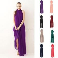 Fashion Women's Summer Boho Long Maxi Dress Evening Party Beach Chiffon Dresses