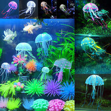 Aquarium Decor Jellyfish Decoration Artificial Glowing Effect Fish Tank Ornament