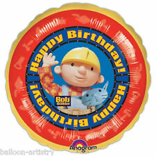 "18"" Bob the Builder & Friends Happy Birthday Children's Party Round Foil Balloon"