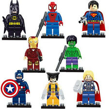 8pcs Super Heroes Figures Doll Building Blocks Kids Children Baby Boy Girl Toy