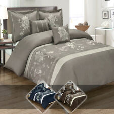 Embroidered Myra Combed Cotton 300 Thread Count 5-Piece Duvet Cover Set