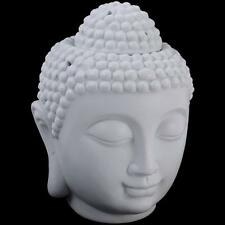 Extra Large White Thai Buddha Head Oil Burner Warmer Feng Shui XL Free Postage