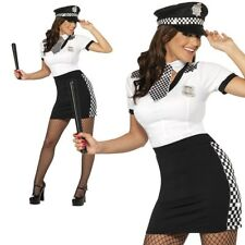 Adult Cop Policewoman Costume Ladies Sexy Police Lady Fancy Dress Outfit