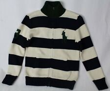 POLO Ralph Lauren Cream Navy Half 1/2 Zip Sweater Big Green Pony NWT