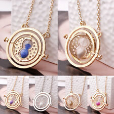 Harry Potter Time Turner Hermione Granger Rotating Spins Hourglass Necklace TY