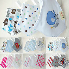3pcs/set Baby Girl Bandana Bibs Triangle Head Scarf Saliva Towel Dribble Lunch