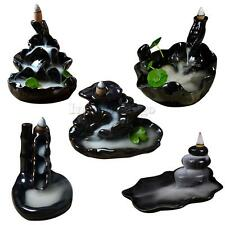 Feng Shui Ceramic Incense Smoke Cone Burner Backflow Censer Tower Holder 5 Types
