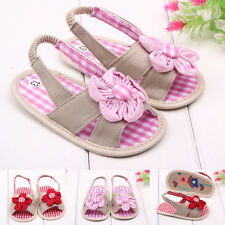 New Baby Girls Toddler Princess Flower Cotton Sandals First Walking Casual Shoes