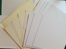"10 x 8""Square White or Cream Card Blanks 300gsm & White Envelopes 100gsm New"