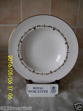 Royal Worcester Gold Chantilly Pattern Rimmed Soup Bowl