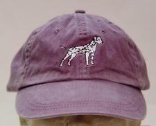 DALMATIAN DOG WOMEN MEN SOLID COLOR BASEBALL CAP - Price Embroidery Canine Hat