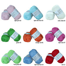 Wholesale!Soft Smooth Natural Bamboo Cotton Yarn lot;Sport;!30 color