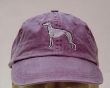 GREYHOUND DOG WOMEN MEN SOLID COLOR BASEBALL CAP - Price Embroidery Hat