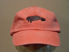 MANATEE WILDLIFE HAT LADIES MEN SOLID COLOR BASEBALL CAP - Price Embroidery