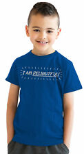 Youth Im Delightful Funny Self Bragging I Am Awesome T shirt (Royal Blue)