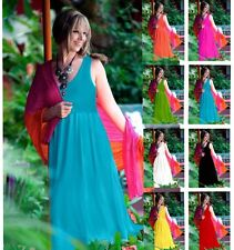 @U1040 DRESS MAXI LAYERED STRETCH S M L XL 1X 2X 3X 4X FASHION CHIC MADE 2 ORDER