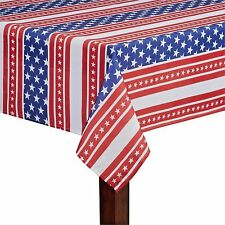 Asstd Sizes Red White & Blue US Flag American Stars & Stripes Fabric Tablecloth