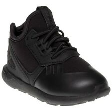 New Infants adidas Black Tubular Runner Textile Trainers Retro Lace Up
