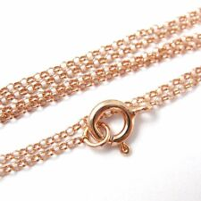 Rose Gold plated Sterling Silver Necklace, Bracelet, Anklet-1mm Rolo Chain-7-36""