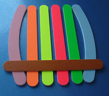 THE EDGE NAIL FILES,NEON COLOURS,100/100,180/180, 240 Grit,Quality Nail Files,UK