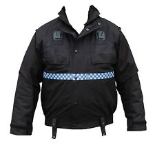 Ex Police Black Waterproof Non-Lined Bomber Jacket Security Dog Handler GRADE B