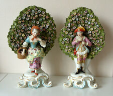 Antique 19th C Chelsea Derby Style Porcelain Figurines Courting Couple Good Con