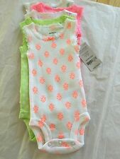 CARTERS 5 PACK ASSORTED GIRLS BODYSUITS BEAUTIFUL COLORS NWT