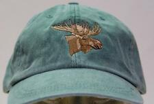 MOOSE WILDLIFE HAT MEN WOMEN SOLID COLOR BASEBALL CAP - Price Embroidery Apparel