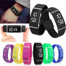 New Rubber Digital LED Watch Mens Sports Watch Womens Bracelet Date Wrist Watch