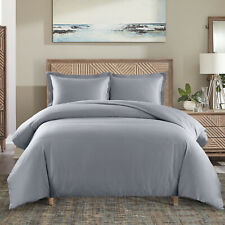Durable  Wrinkle-Free 650 Thread Count 3PC Combed Cotton Duvet Cover Set