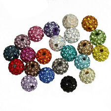 8pc Clay Czech Crystal Round Spacer Bead Charm 6mm for Shamballa Bracelet H0071