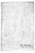 Shag Area Rug - Plush Faux Fur Rectangle - Ultra Suede Lining - 12 Colors