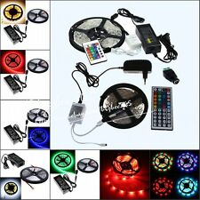 5M SMD RGB 5050 3528 Non/Waterproof 300 Leds Strip Light Remote 12V Power Supply