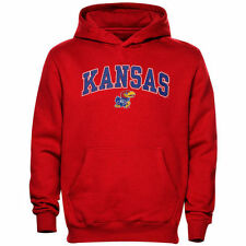 Kansas Jayhawks Youth Crimson Midsized Pullover Hoodie