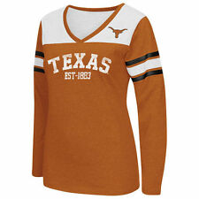 Texas Longhorns Women's Burnt Orange Player TC V-Neck Long Sleeve T-Shirt