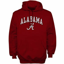 New Agenda Alabama Crimson Tide Cardinal Midsize Arch Over Logo Hoodie
