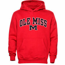 Ole Miss Rebels Youth Red Midsized Pullover Hoodie