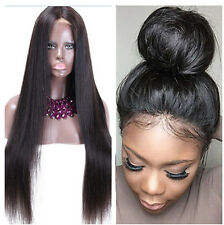 Silk Straight 100% Indian Remy Human Hair Lace Front /Full Lace Wig Baby Hair