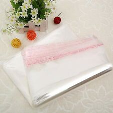 100x Clear Transparent Self-adhesive Plastic Poly Bags OPP Seal Pack Sack 8 size